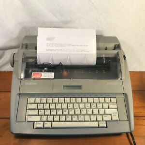 Brother Sx 4000 Portable Daisy Wheel Electronic Lcd Display Typewriter Tested
