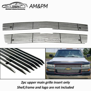 Fits Chevy Silverado 2500hd 3500 Upper Billet Grille Grill Insert For 2001 2002