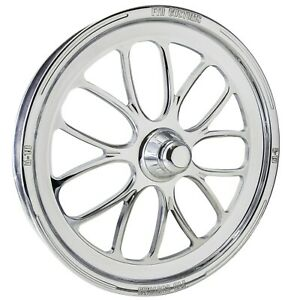 Ftd Customs A10 Polished Spindle Mount Dragster Front Drag Racing Wheels