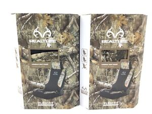 Lot Of 2 Realtree Edge Camouflage Universal Seat Covers Flex Fit Technology New