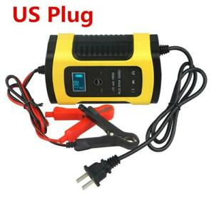 12v 6a Lcd Battery Charger For Car Truck Agm Gel Wet Lead Acid Power Us Plug 1x