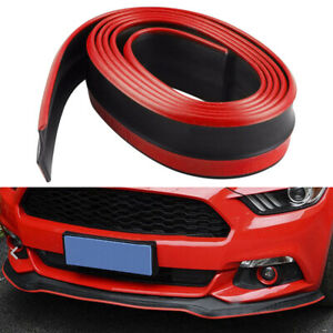 Car Front Bumper Lip Splitter Chin Spoiler Skirt Rubber Body Protector Universal