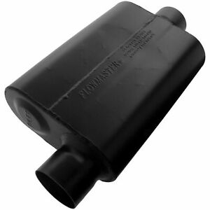 Flowmaster 943046 Super 44 Steel Muffler 3 Offset Inlet Center Outlet