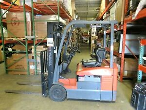 2012 Toyota 7fbeu15 Electric Forklift Type Es 3000 Lb Capacity 3778 Hours