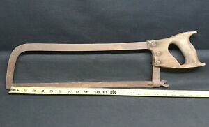 Vintage 24 Finch Columbia Butcher Meat Bone Hand Saw 15 Blade Hacksaw
