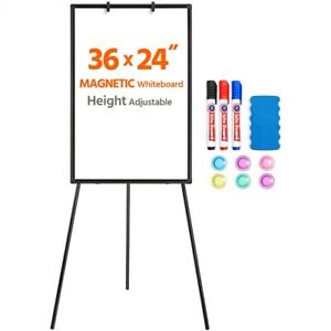 Magnetic Tripod Whiteboard Dry Erase Easel Board Height Adjustable Used