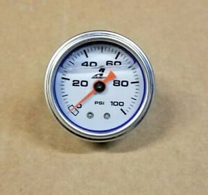 Sale Aeromotive Fuel Pressure Fpr Gauge 0 100 Psi 15633 new Liquid Filled Ver