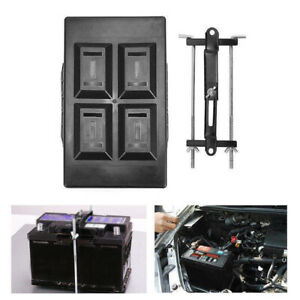 Newly Car Storage Battery Holder Hold Down Tray Clamp Stabilizer Bracket Kit