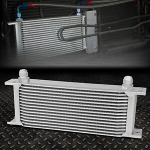Universal 15 Row 10an Coolant Transmission Engine Oil Cooler Extra Radiator Kit
