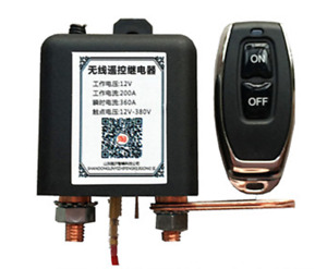 Car Battery Disconnect Cut Off Isolator Master Switch W Wireless Remote Control