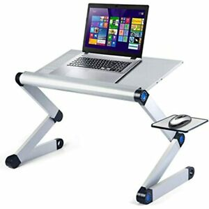 Upgraded Aluminum Laptop Stand Adjustable With Cooling Fan Mouse Pad Reinforced