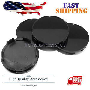 4 Pieces Black Universal 70mm 64mm Abs Car Auto Wheel Center Hub Caps Covers Set