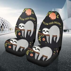 Animal Cute Car Auto Front Seat Cover Accessorie Set Universal Polyester Cushion
