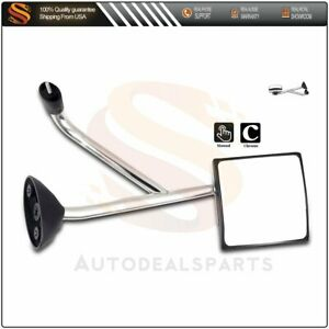 Door Mirror Compatible With 2002 2018 International Truck Hood Left Side Chrome
