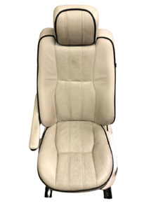 Range Rover Hse L322 07 12 Oem Drivers Front Seat Ivory Black Piping