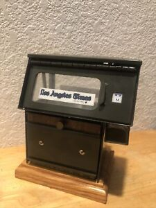 Los Angeles Time News Business Card Holder Display Stand Desk Office Countertop