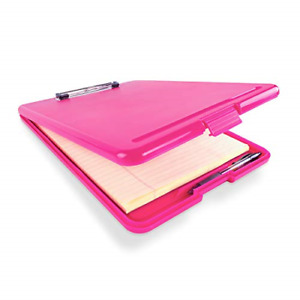 Slim Plastic Nursing Rn Style Coaches Clipboard With Open Foldable Storage Size