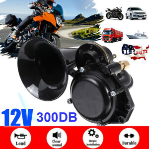 300db 12v Electric Air Loud Sound Horn For Car Truck Boat Train Motorcycle Auto