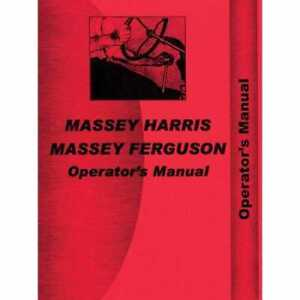 Operator s Manual 44 Special Compatible With Massey Harris 44 44