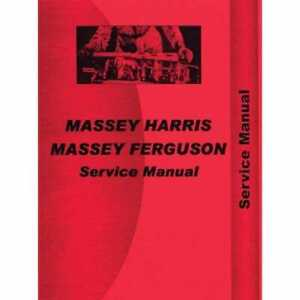 Service Manual 555 Compatible With Massey Harris 555 555