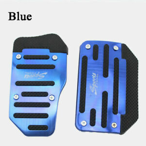 Universal Blue Car Foot Rest Pedals Pad Cover Car Accessories Interior Durable