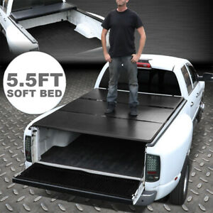For Ford F 150 Ram 1500 Tundra 5 5ft Short Bed Tri fold Soft Tonneau Cover Usa