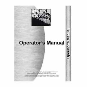 Operator s Manual 655 755 855 955 Compatible With John Deere 755 855 955 655