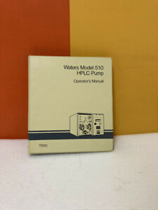 Waters Model 510 Hplc Pump Operators Manual