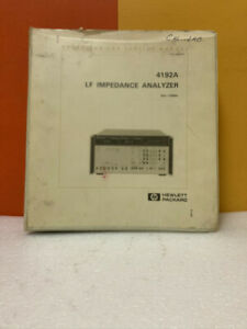 Hp 04192 90001 4192a Lf Impedance Analyzer Pv Test Program Operating Note