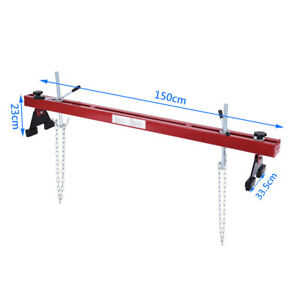 1100lbs Capacity Engine Load Leveler Support Bar Transmission Red W Dual Hook
