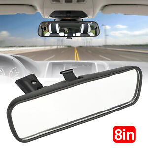 8 Interior Universal Car Rear View Mirror Replacement Glass 360 adjustable Clip