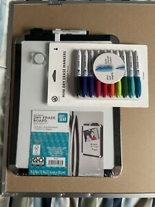 Pen Gear Magnetic Dry Erase Board With Mini Markers Magnetic 8 5 x11 fastship