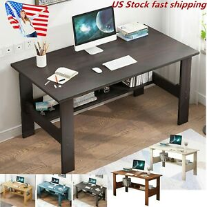 Computer Desk Table Workstation Home Office Student Dorm Laptop Study W shelf Us