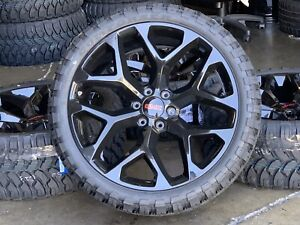 22 Gmc Sierra Denali Yukon Gloss Black Wheels Chevy Tahoe Silverado Mt Tires