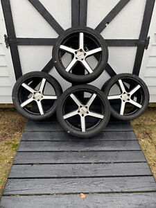 20 Inch Staggered dotz Rims 5x114 3 With Low Profile Tires