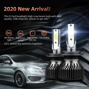H7 Led Headlight High low Conversion Kit 2x Bulbs Canbus Error Free Super White