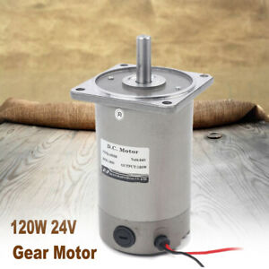 120w 24v Electric Gear Motor Variable Speed Controller 1 1 1800rpm High Torque