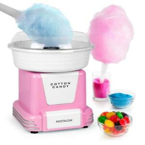 Cotton Candy Maker Retro Hard And Sugar free With Cones And Scoop