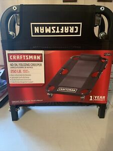 Craftsman 40 Inch Folding Mesh Creeper With Metal Frame And 4 Casters