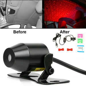 Car Interior Ceiling Atmosphere Led Star Light Sky Usb Red Laser Projector Lamp