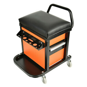 Aain Mechanics Roller Seat Tool Box Garage Rolling Toolbox Creeper With Storage