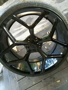22 Inch Rims And Tires 2553022 Only 2 Left