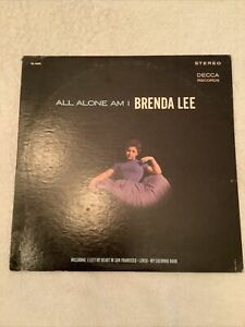 BRENDA LEE quot;All Alone Am Iquot; Vintage 33Lp Decca Record Stereophonic DL74370 $3.99