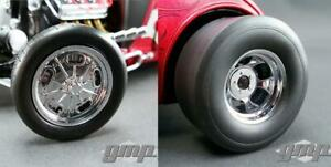 Gmp Chromed Hot Rod Wheels And Tire Pack 18841 rear Slicks Skinny Fronts