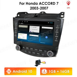 9 Android 10 Car Gps Stereo Radio For Honda Accord 2003 2004 2005 2006 2007 cam
