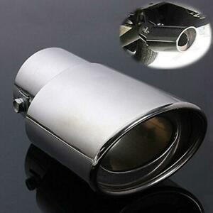 Universal Car Exhaust Muffler Tips Tail Pipe Chrome Stainless Steel Round Shape