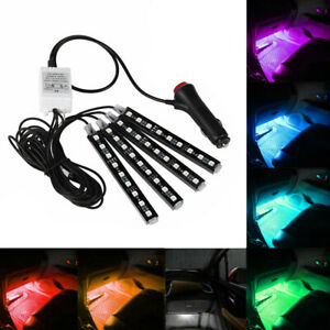 9 Led Rgb 16 Color Interior Car Under Dash Foot Floor Seats Accent Lighting 4