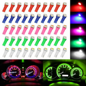50x T5 74 5050smd Led Speedometer Instrument Gauge Cluster Dash Light Bulb 8000k