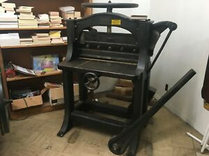 Antique Vintage Chandler And Price Co Manual Paper Guillotine Cutter 26 Inch