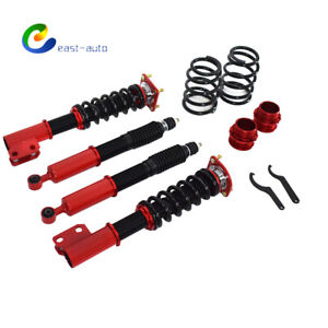 Coilovers For Ford Mustang 4th 1994 2004 24 Ways Adj Damper Shocks Absorbers Red